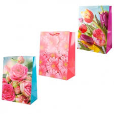 <b>Пакет подарочный</b> Цветы 33х46х20 см <b>Играем Вместе</b>, цвет ...
