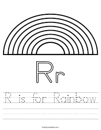 colors of the rainbow worksheet. r is for rainbow handwriting sheet colors of the worksheet d
