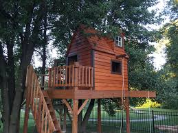 built a dream playhouse treehouse for my kids this was so much fun to build