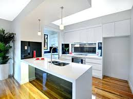 galley kitchen designs with island modern design using glass photo small