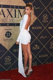 all hail hailey hailey baldwin hit the red carpet at the maxim hot 100 party