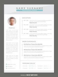 New Modern Resume Cv Template Photo Curriculum Vitae Design