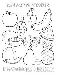 Healthy Food Coloring Pages Imageoptimization Info