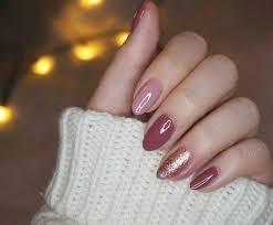 dark pink, light pink and glitter almond nails   Dark pink nails, Pink  nails, Neutral nails
