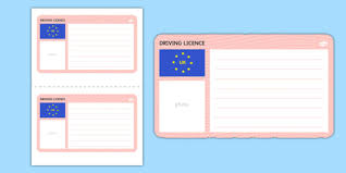 Driving Template Driving Licence Template Cars Blank -