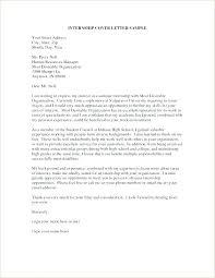 Psychology Internship Cover Letter Samples Cover Letter Examples For Internships Cover Letter Samples For