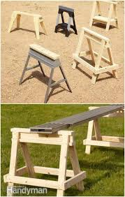 Diy wooden furniture Bench Fast And Easy Diy Sawhorse Diy Crafts 50 Diy Home Decor And Furniture Projects You Can Make From 2x4s