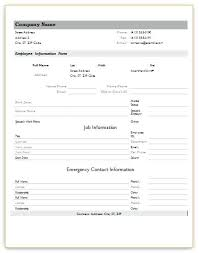 General Employee Information Form Entire Efficient Addition With