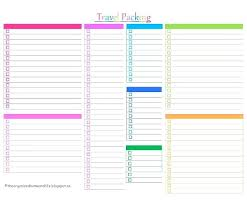 Food Packing List Template For Vacation Checklist Printable – Iinan.co