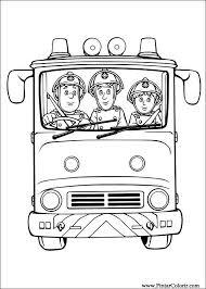 Brandweer Uitnodiging Brandweerauto Kleurplaat Kinderfeestje