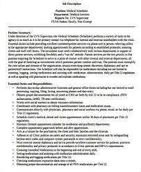 Medical Scheduler Job Description And Duties