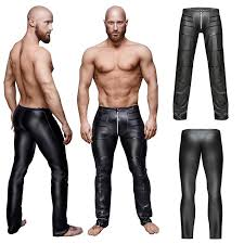 2019 faux leather pants y zipper crotch tight mens trousers clubwear sweatpants slim fit costumes party joggers clothing from bigseaa 26 93 dhgate