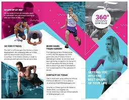 Gym Brochure Templates Gym Trifold Brochure Design Template In PSD Word Publisher 10