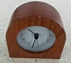 small wooden desk clock quartz