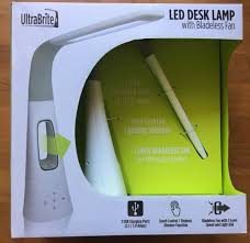 Ultrabrite Led Desk Lamp Enchanting Ultrabrite LED Desk Lamp With 32 Level Bladeless Fan 32 Lumens