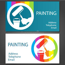 business card for painting stock ilration ilration of cards 39305583