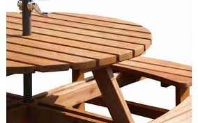 h4home outdoor wooden pub bench round picnic table garden furniture