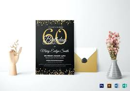Classy Birthday Invitation Templates 50th Invitations Card Size