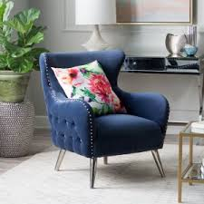 blue wingback chair. Belham Living Channing Tufted Arm Chair Blue Wingback
