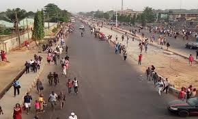 Image result for traffic gridlock as buhari visits lagos