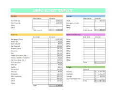 How To Create A Budget Simple Budget Template Get Out Of Debt