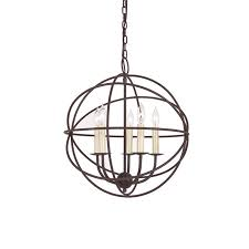one other image of wrought iron globe chandelier