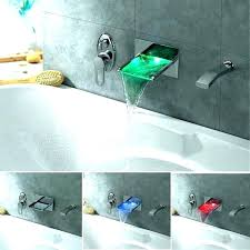 wall mount roman tub faucet led waterfall tabor mounted bath filler