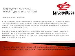 Employment Agencies Which Type Is Best For You