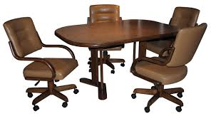 dinette sets chairs with casters. 280 caster chairs with 42 x 60 table dinette sets casters 1