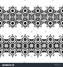navajo bead designs. Tattoo Belt. Seamless Border In American Indian Style. Embroidery Dotted Schemes. Ethnic Navajo Bead Designs