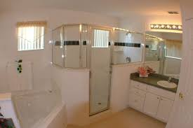 home white. Cool White Vanity Bathroom And Small Walk In Shower As Well Oval Tub Master Corner Ideas Home D