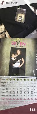 Seven Sling Black Baby Sling Used Once Size 3 Size Chart