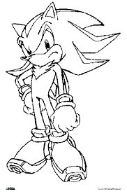 sonic the hedgehog coloring sheets page printable pages shadow book colouring