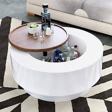 ya ya round storage coffee table