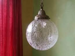 vintage le glass pendant lamp