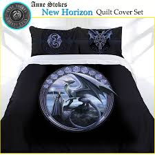 3 pce new horizon gothic fantasy quilt cover set anne stokes double queen king