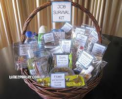 office warming gifts. Ordinary Office Warming Gift Job Survival Basket Kit...for Someone Just Beginning A Gifts G