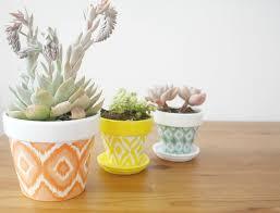 DIY Hand Painted Ikat Pots