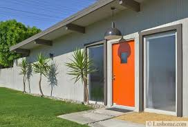 Orange front door Colors Concrete Walls Sidelight Panels Orange Front Door Sbsummitco Mid Century Modern Door Colors Adding Fashion And Flair To House