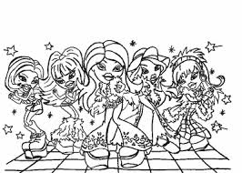 Small Picture Coloring Pages of Bratz kids world