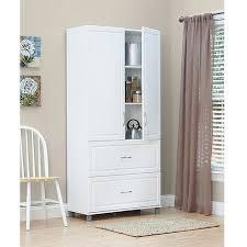 SystemBuild 36 2 Door2 Drawer Storage Cabinet White Stipple