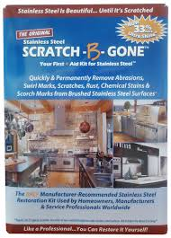the scratch b gone homeowners kit is designed to fit the needs of homeowners with stainless steel appliances grills and sinks the kit removes all types
