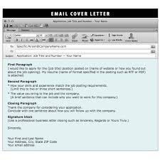 Cover Letter Sample Resume Email Sample Resume Email Email Sample