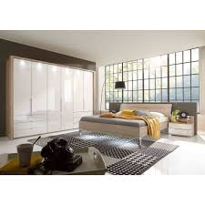 Wiemann Loft Schlafzimmer Eiche Sägerauglas Weiß