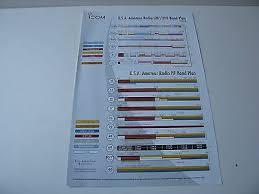 2013 Icom Ham Amateur Radio Chart Vhf Uhf Hf Band Plan Sheet