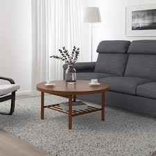 The table top in metal mesh provides an airy design and allows water to pass through. Listerby Coffee Table Brown 35 3 8 Ikea