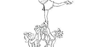 Cheerleading Coloring Pages Ispeakanglaisclub