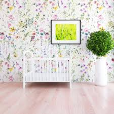 Meadow Floral Wallpaper \u2013 Project Nursery