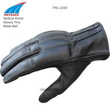 tactical police gloves tiny metal