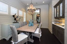 view full size cottage dining room features wood beaded chandelier
